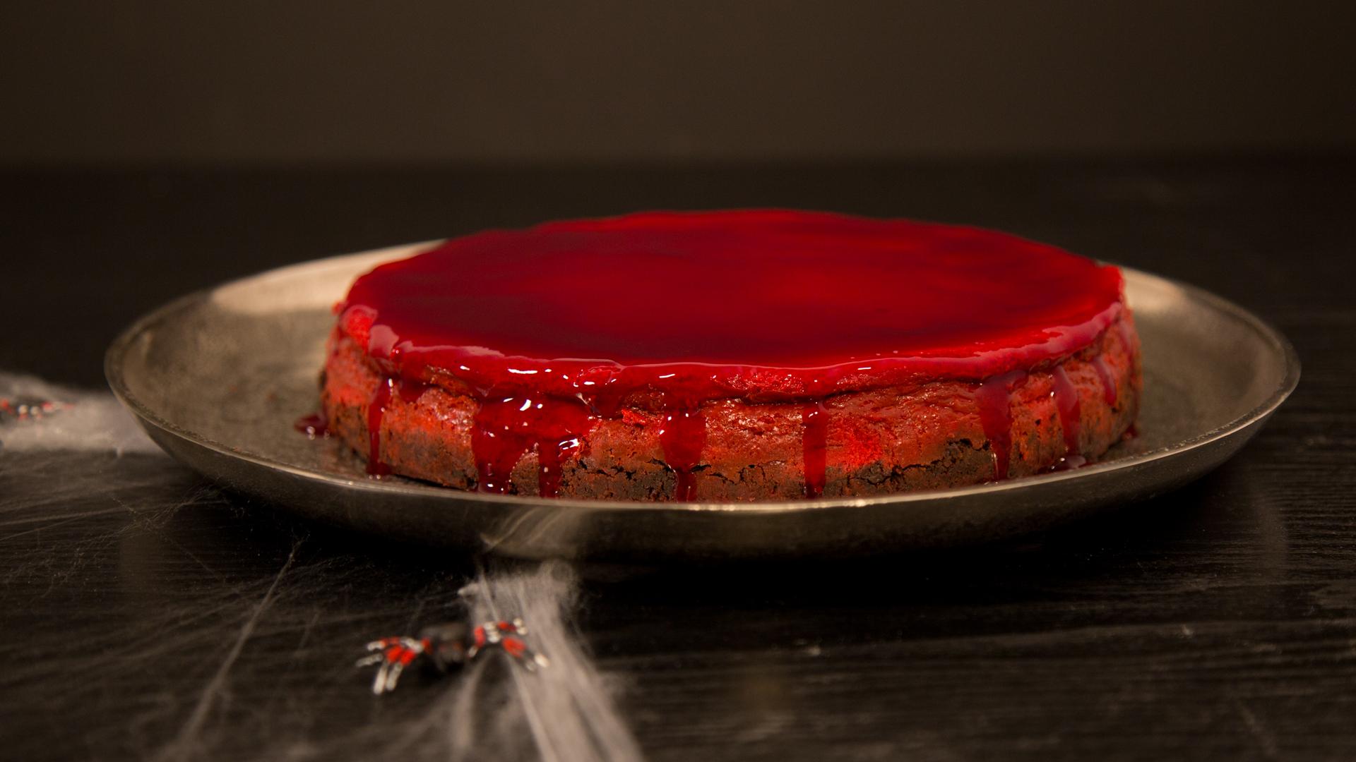 Halloween Kuchen Bloody Cheesecake