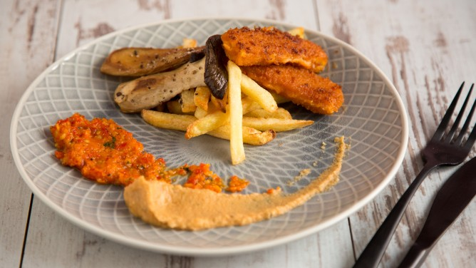 Fish and Chips mit leckeren Dips