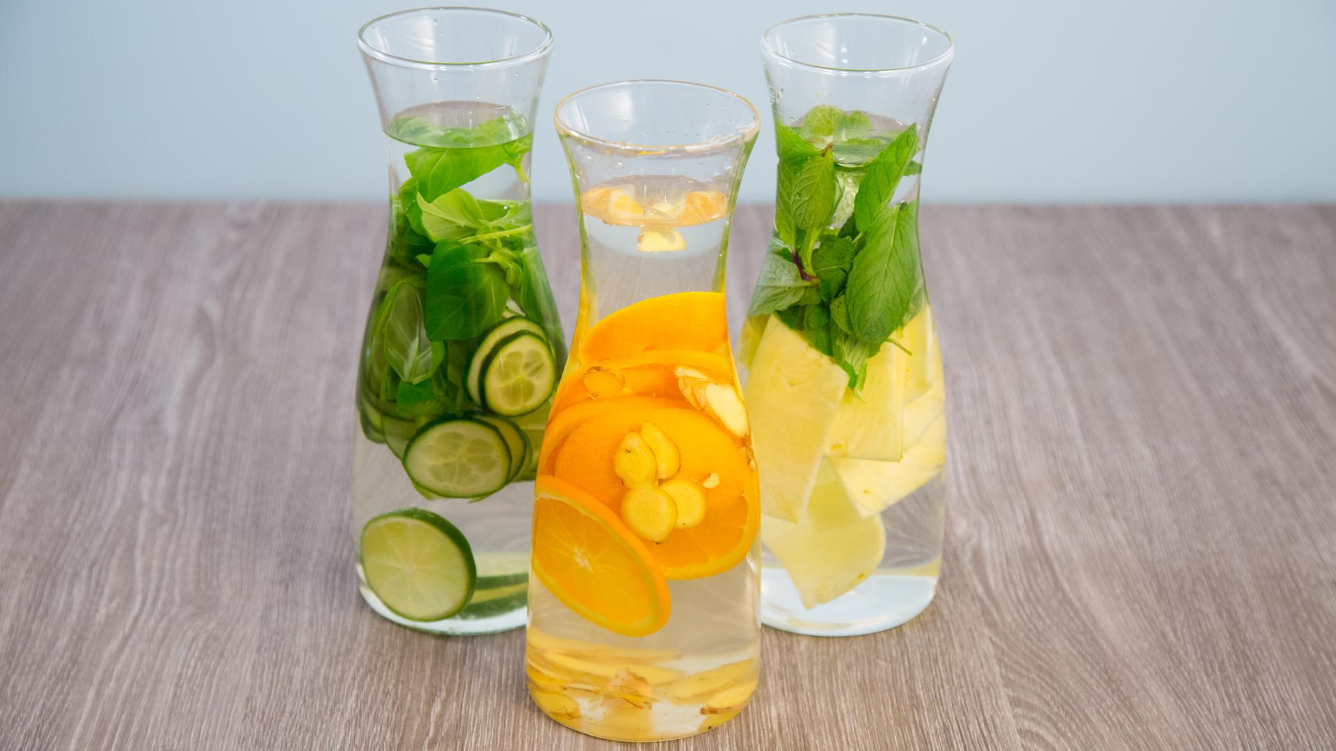 Fruit Infused Water in drei leckeren Sorten