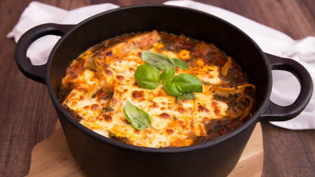 Vegetarische Lasagne-Suppe