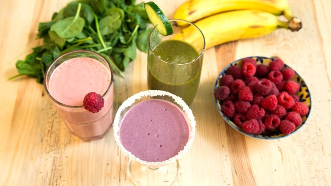 Smoothies is drei Varianten