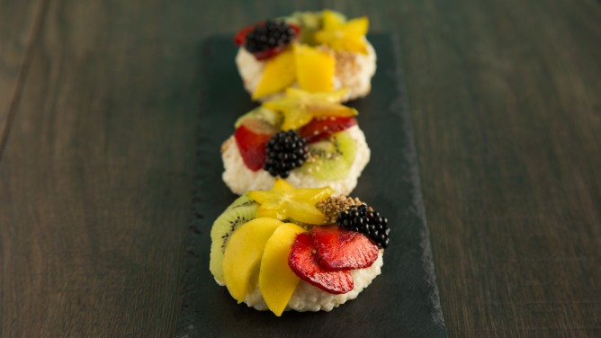 Sushi-Donuts mit Obst