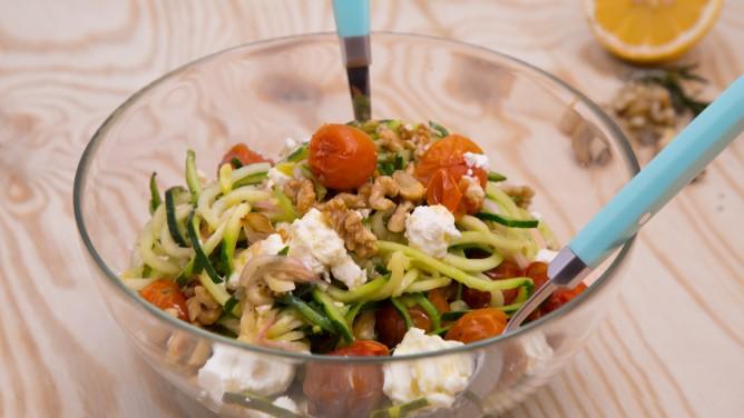 Glasnudelsalat Mit Knackigem Gemüse Und Erdnuss Topping